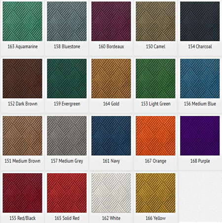 WaterHog Classic Tile Color Options