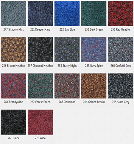 Colorstar Mat Color Options